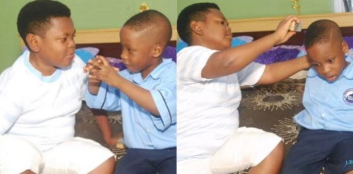 """Actor, Osita Iheme, Also Known As """"Pawpaw"""" Shares Lovely Photos Of His Son (See Photos"""