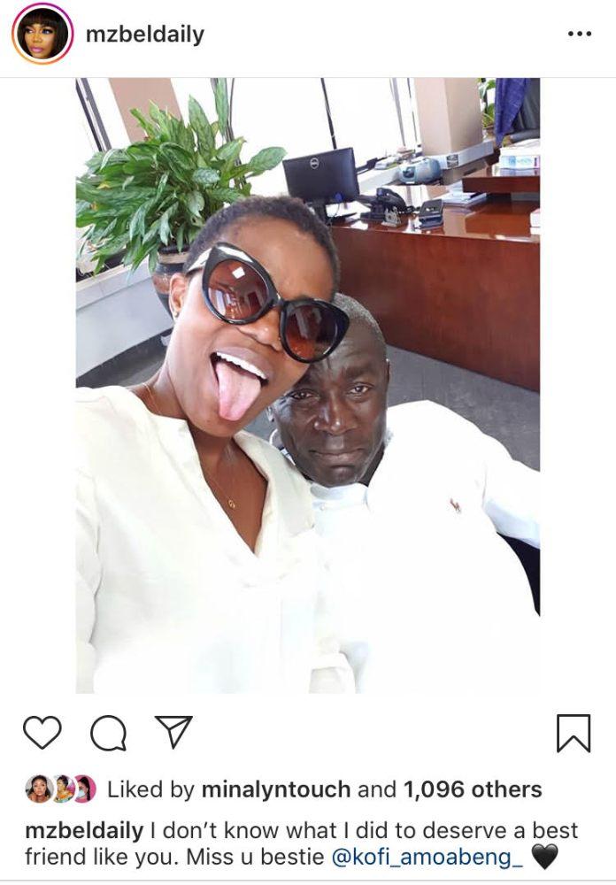 Mzbel relationship with Kofi Amoabeng
