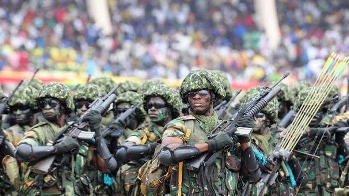 Military personnel deployed to Volta Region