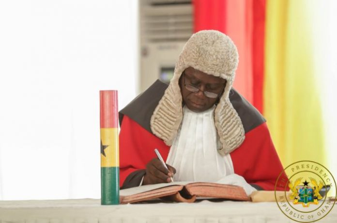 Chief Justice Kwasi Anin Yeboah self isolate for days