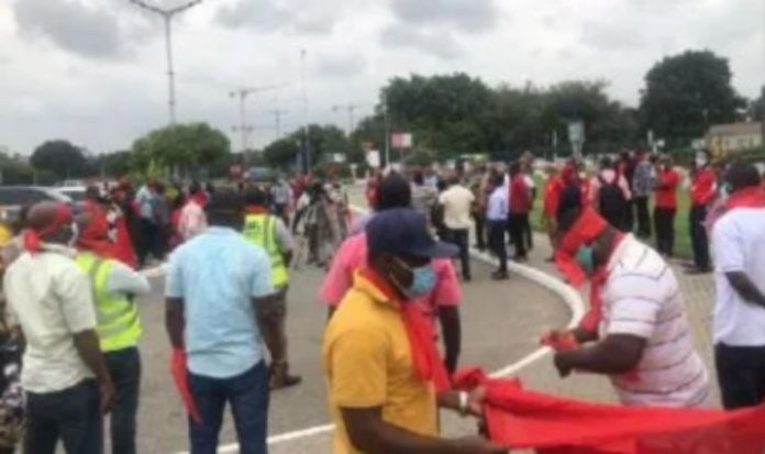 KIA Workers protest over sale of Airport