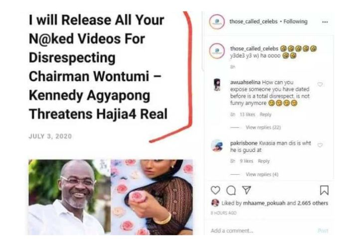 Kennedy Agyapong threatens Hajia4 Real