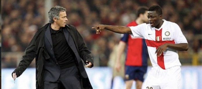 Sulley Muntari and Jose Mourinho