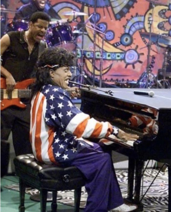 Little Richard with Charles Glenn on bass and D'Mar on drums