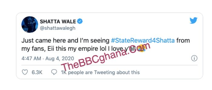 Shatta Wale should be honored by the state
