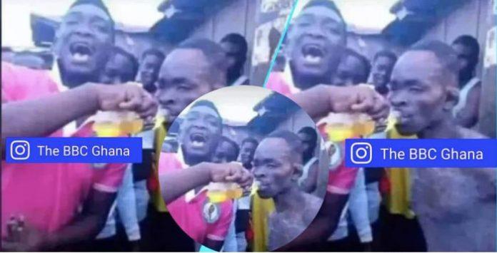 Takoradi boys give thief Rush Energy drink