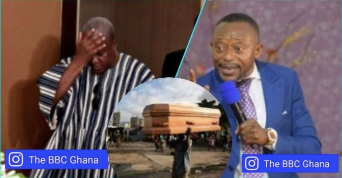 Mahama carrying coffin