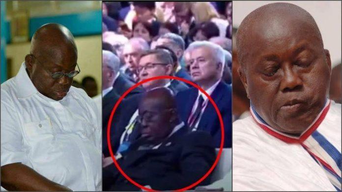 Akufo Addo Sleeping