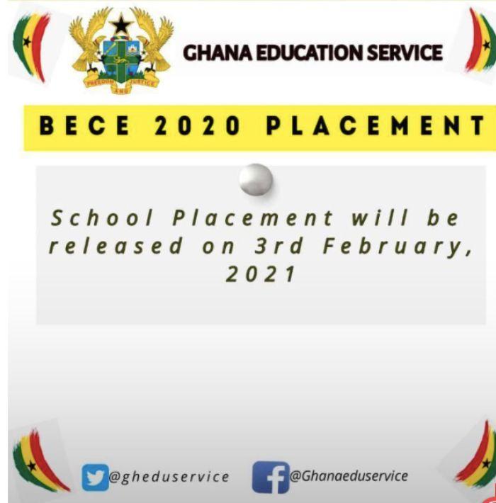 2021 BECE School Placement