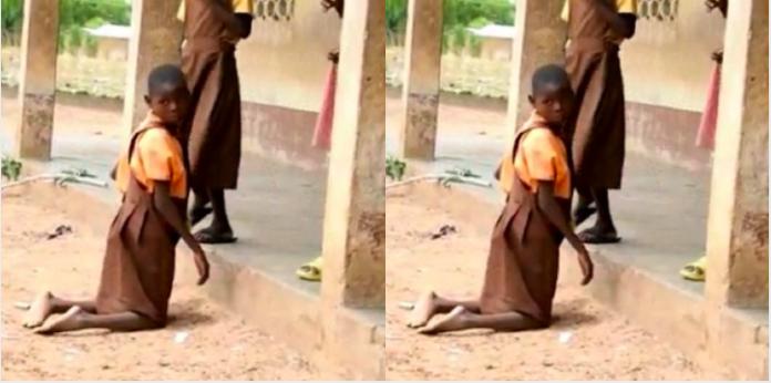 Sad story of 9-year-old girl who crawls 1.5 kilometres to school everyday