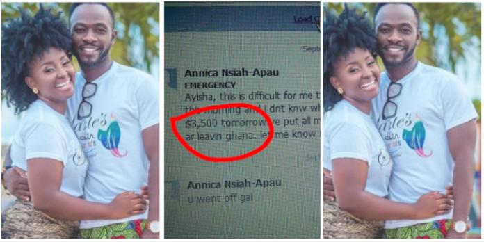 Okyeame Kwame's wife begging Ayisha Modi for money