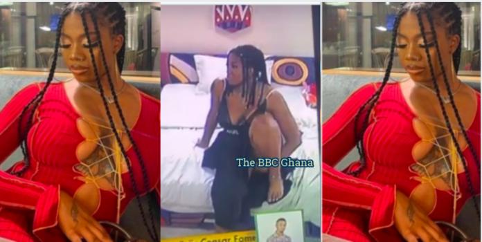 Angel of BBNaija fingering herself on Live TV