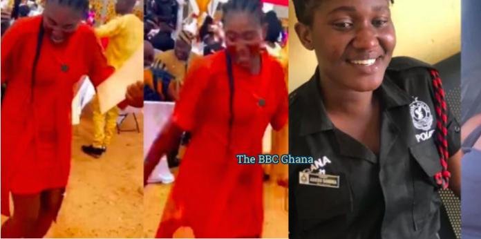 The late Police constable Sandra on the dancefloor