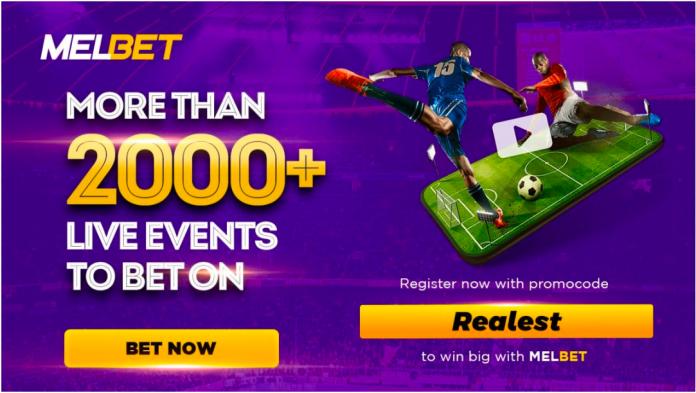 """Register Melbet with promocode """"Realest"""" to get huge bonus"""