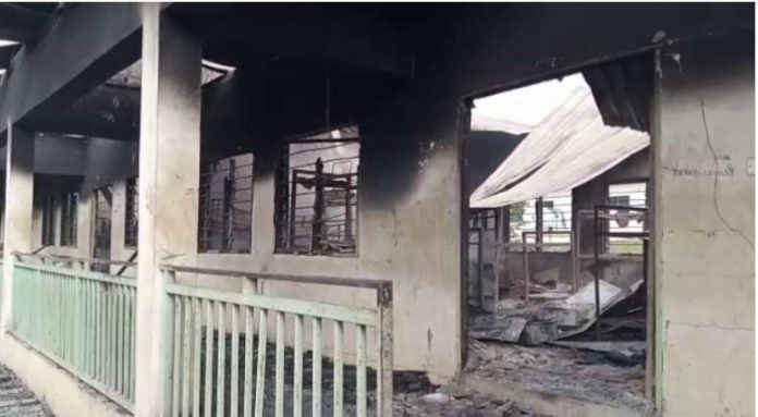 Nyinahin Catholic SHS burnt down