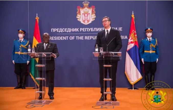 Serbian President and Akufo Addo